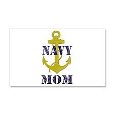 Navy Mom Car Magnet 20 x 12