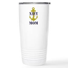 Navy Mom Travel Coffee Mug