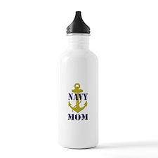 Navy Mom Water Bottle