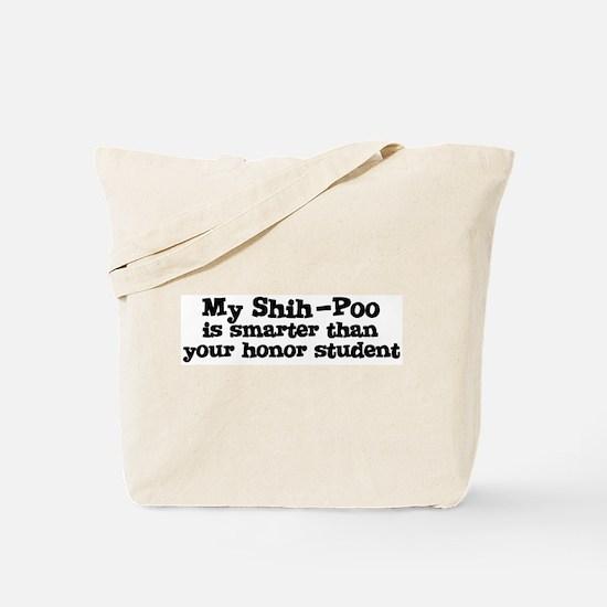 Honor Student: My Shih-Poo Tote Bag
