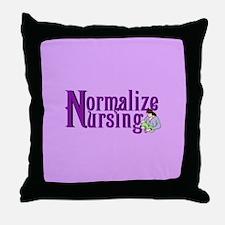 Normalize Nursing Throw Pillow