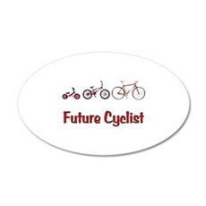 Future Cyclist 22x14 Oval Wall Peel