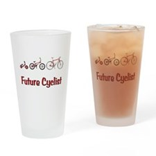 Future Cyclist Drinking Glass