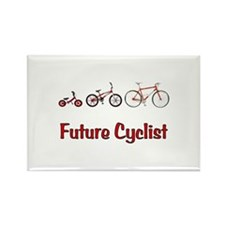 Future Cyclist Rectangle Magnet