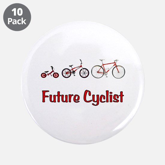 """Future Cyclist 3.5"""" Button (10 pack)"""