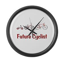 Future Cyclist Large Wall Clock