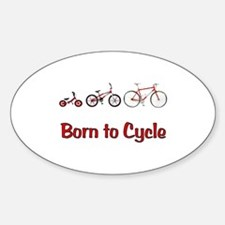 Born to Cycle Sticker (Oval)