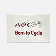Born to Cycle Rectangle Magnet