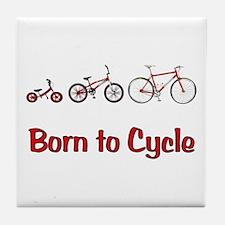 Born to Cycle Tile Coaster