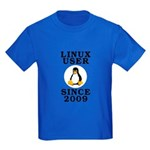 Linux user since 2009 - Kids Dark T-Shirt