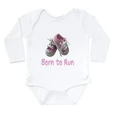 Born to Run Girl Long Sleeve Infant Bodysuit