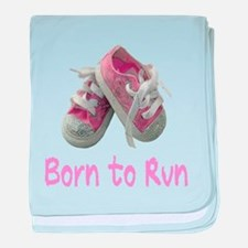 Born to Run Girl baby blanket