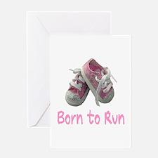 Born to Run Girl Greeting Card