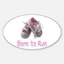 Born to Run Girl Sticker (Oval)