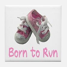 Born to Run Girl Tile Coaster