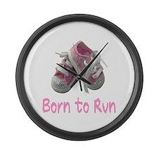 Born to Run Girl Large Wall Clock