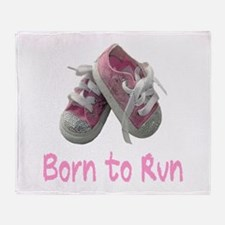 Born to Run Girl Throw Blanket