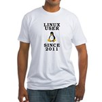Linux user since 2011 - Fitted T-Shirt