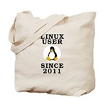 Linux user since 2011 - Tote Bag
