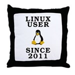 Linux user since 2011 - Throw Pillow