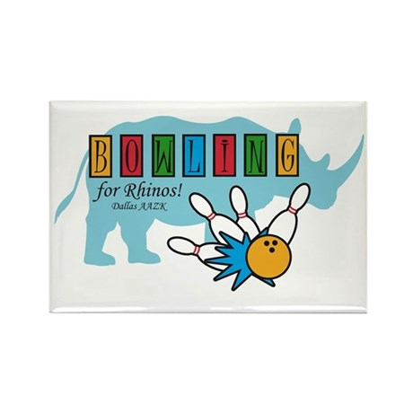 Bowling for Rhinos! Rectangle Magnet