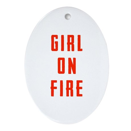 Girl On Fire Ornament (Oval)