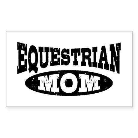 Equestrian Mom Sticker (Rectangle)
