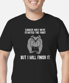 10 x 10 - Cancer started the fight (dark) T-Shirt