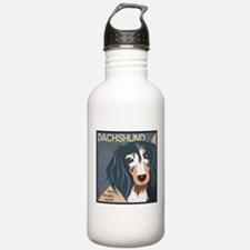 Dachshund-Kiss.Snuggle.Repeat. Water Bottle