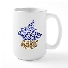 Bitten Blue Cupcake Mug