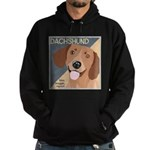 Dachshund-Kiss.Snuggle.Repeat. Hoodie (dark)