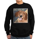 Dachshund-Kiss.Snuggle.Repeat. Sweatshirt (dark)