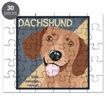 Dachshund-Kiss.Snuggle.Repeat. Puzzle