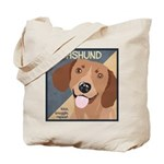Dachshund-Kiss.Snuggle.Repeat. Tote Bag