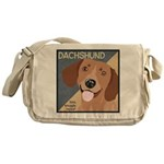 Dachshund-Kiss.Snuggle.Repeat. Messenger Bag