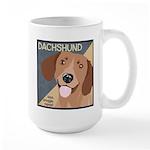 Dachshund-Kiss.Snuggle.Repeat. Large Mug