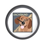 Dachshund-Kiss.Snuggle.Repeat. Wall Clock
