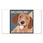 Dachshund-Kiss.Snuggle.Repeat. Sticker (Rectangle