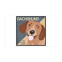 Dachshund-Kiss.Snuggle.Repeat. 38.5 x 24.5 Wall Pe