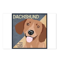 Dachshund-Kiss.Snuggle.Repeat. Postcards (Package