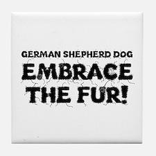 German Shepherd Tile Coaster