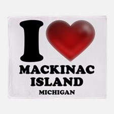 I Heart Mackinac Island Throw Blanket