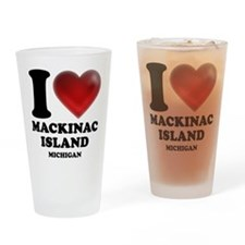 I Heart Mackinac Island Drinking Glass