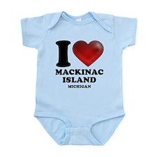 I Heart Mackinac Island Infant Bodysuit