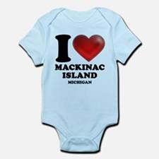 I Heart Mackinac Island Infant Bodysuit