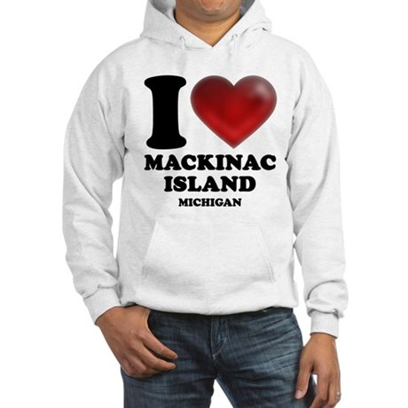 I Heart Mackinac Island Hooded Sweatshirt