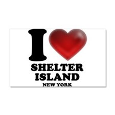I Heart Shelter Island Car Magnet 20 x 12