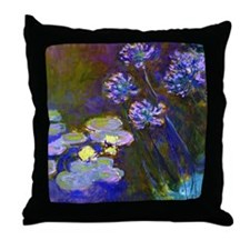 Monet - Lilies Throw Pillow
