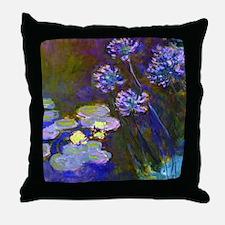 Monet - Lilies Throw Pillow