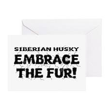 Siberian Husky Greeting Card